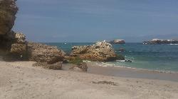 Beach scene from Mexico, island off Puerto Vallarta
