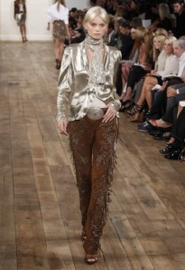 Ralph Lauren model on the runway - spring 2011 collection