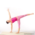 Half moon pose from Yoga Journal